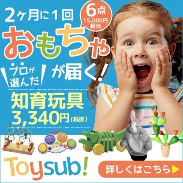 【トイサブ!】知育玩具の定額レンタルサービス(子供の年齢でカスタマイズ)の底力