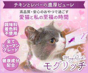 まるっとお得な【モグリッチ】健康と安心に配慮したネコちゃん用とろ~りおやつ