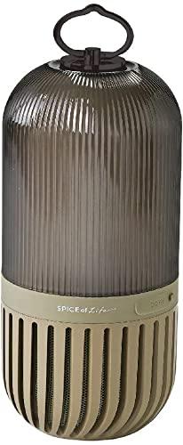 典型的にダメなSPICE OF LIFE(スパイス) ゆらぎカプセルスピーカー カーキ Bluetooth 防塵 防水 LED 充電式 CS2020KH