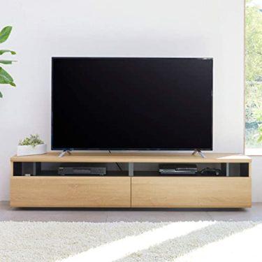 白井産業 大型テレビ台 50から60インチ対応  ラモリア RAM-4018H NA ナチュラルブラウン 幅180cmの必勝パターン